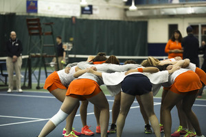 Like every other Division I tennis program, Syracuse is beholden to the mathematical formula. It determines ranks across all modes of play: singles, doubles and team.