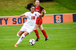 Alex Lamontagne is one of Syracuse wingbacks, a position that SU head coach Phil Wheddon said needs to be able to run longer distances to help the defense and initiate the offense.